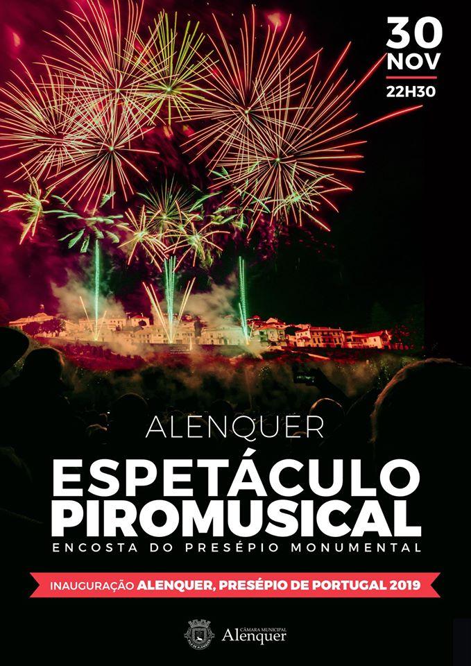 Espetáculo Piromusical - Inauguração Alenquer, Presépio de Portugal 2019