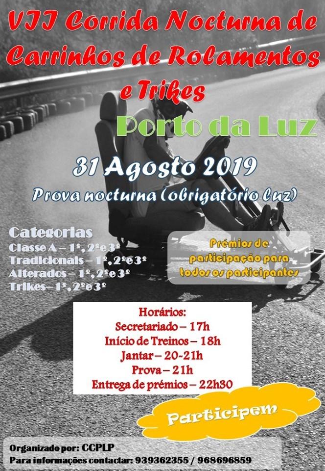 Corrida Noturna de Carrinhos Rolamentos e Trikes no Porto da Luz