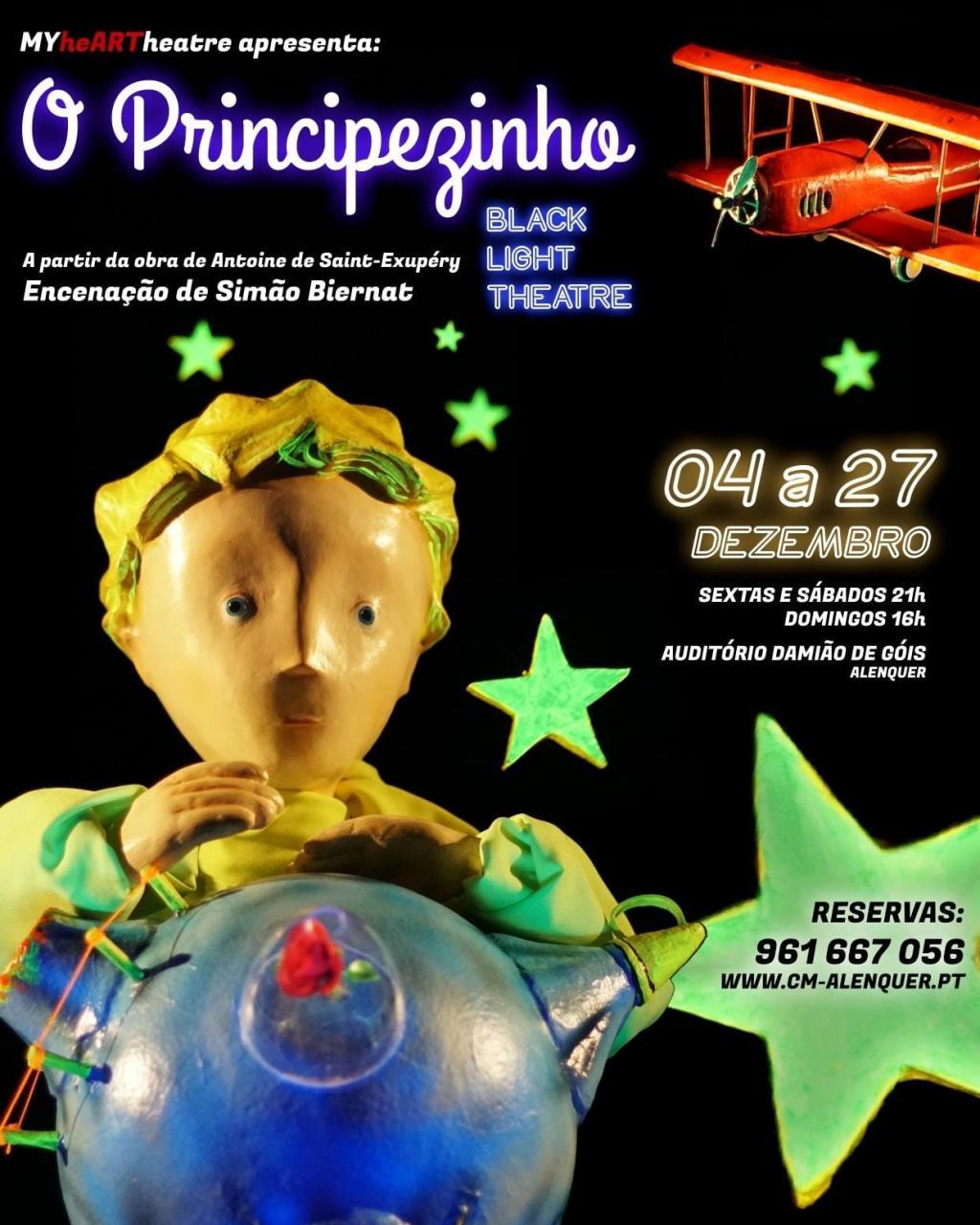 Principezinho em Black Light Theatre