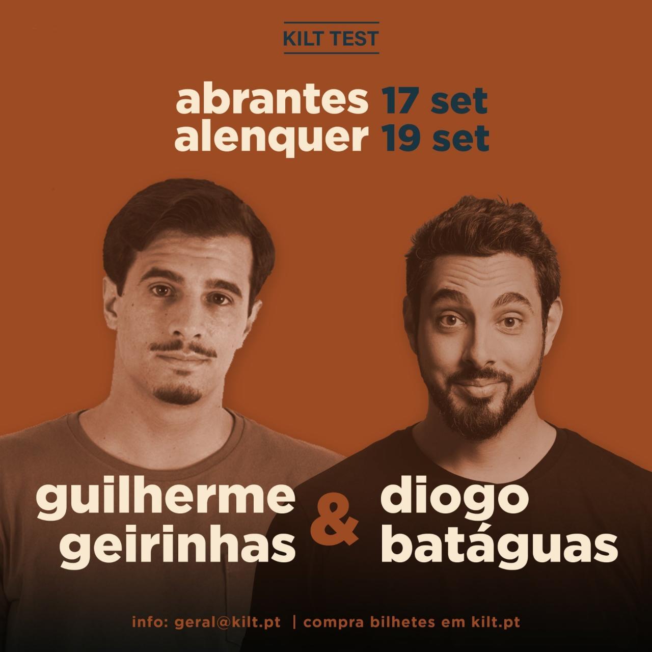 Stand Up Comedy com Guilherme Geirinhas e Diogo Batáguas